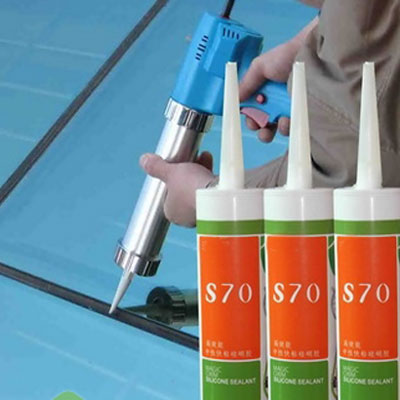 Details Of The Use Of Glass, Plastic Silicone Sealant
